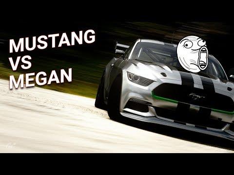 Ford Mustang против Renault Megan. Проверка терпения) Gran Turismo Sport thumbnail
