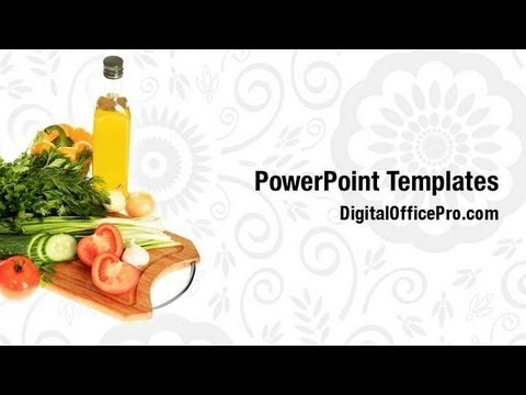 Fresh Vegetables Nutrition PowerPoint Template Backgrounds