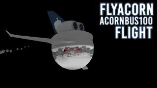 FlyAcorn AcornBus100 vôo! | Roblox