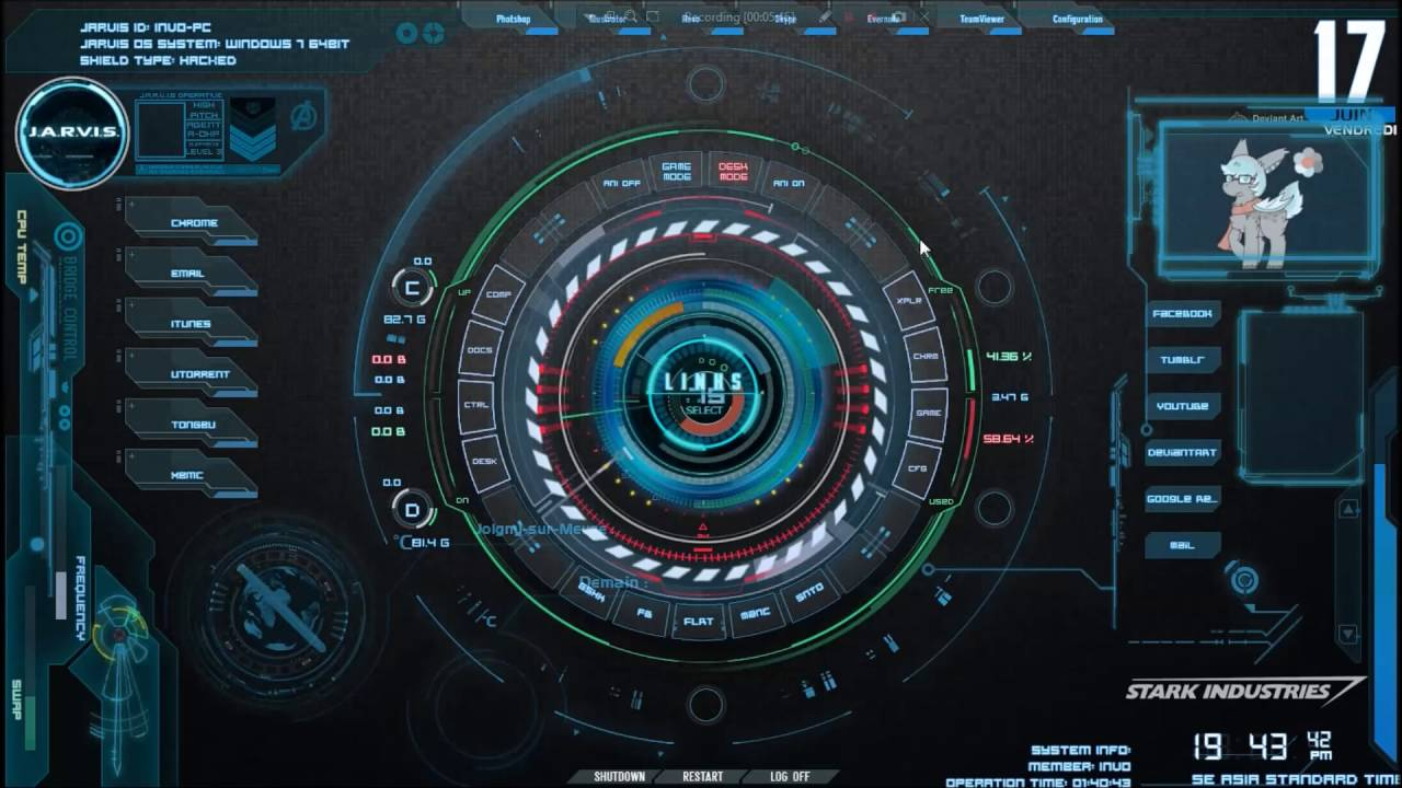 HOW TO INSTAL RAINMETER STARTUP UI WITH SOUND JARVIS (Indonesia)