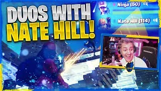 THE WHOLE LOBBY WANTS TO BEAM ME! Duos W/ Nate Hill #TeamTrees