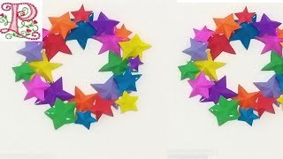 Christmas wall hanging || star paper wall hanging || Christmas decorations ideas || poppyalley