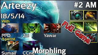 Arteezy  Morphling - Dota 2 Full Game 7.17