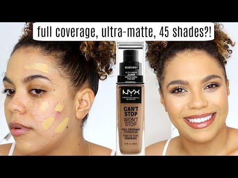 NYX Can't Stop Won't Stop Foundation Review/Wear Test OILY SKIN
