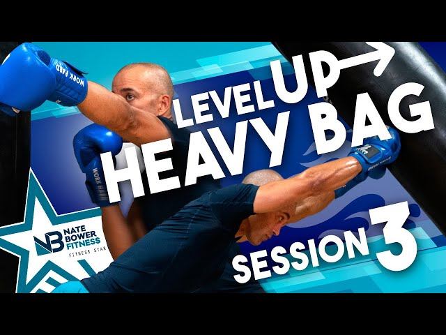 40 MINUTE // Level Up BOXING Heavy Bag WORKOUT 3 // NateBowerFitness