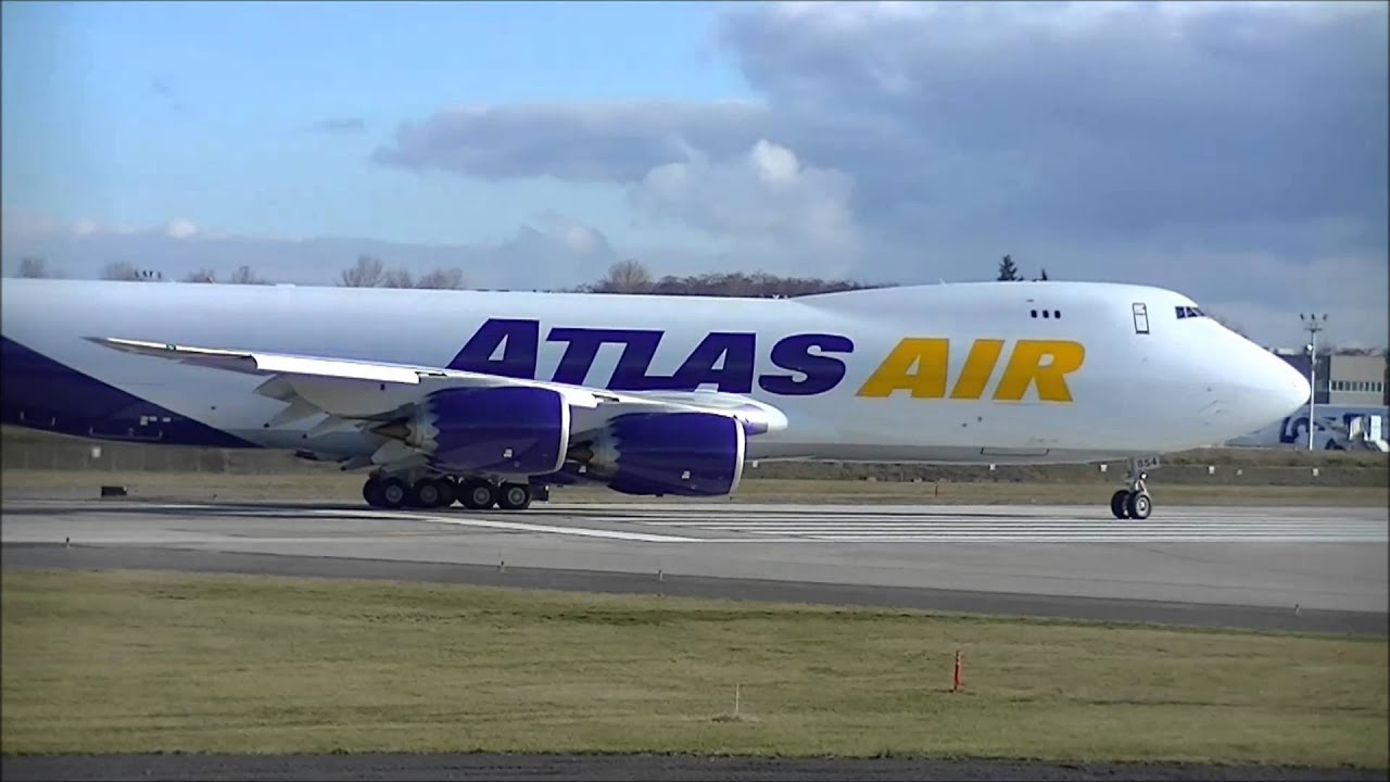 Atlas Air 747 8 Brand New In Hd Youtube