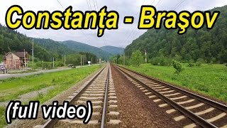 Constanta-Brasov-cea mai rapida ruta feroviara-full backview-Trainride-Zugfahrt