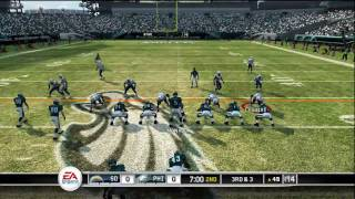 Madden NFL 10 - Chargers at Eagles - Part 1 (HD)