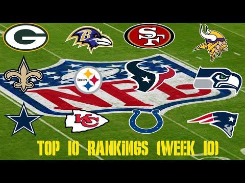 NFL Top 10 Team Rankings (Week 10)