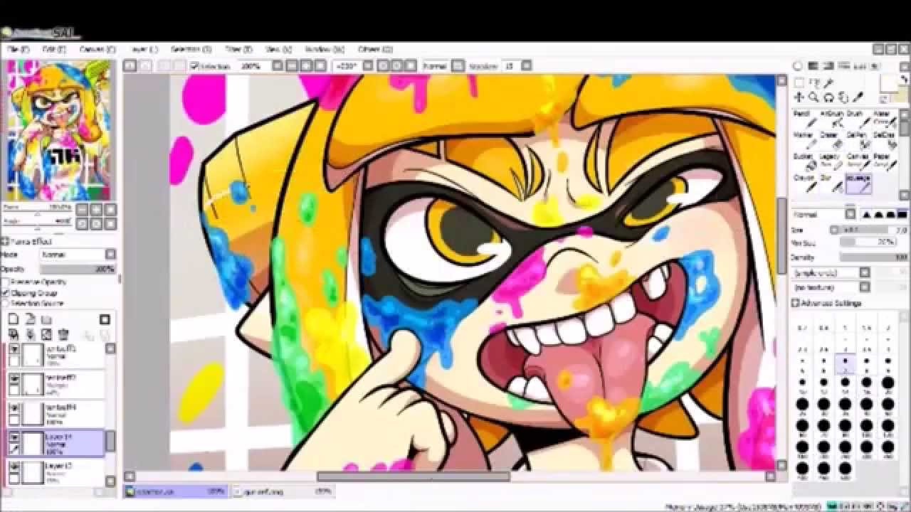 splatoon speed paint pt 3 youtube