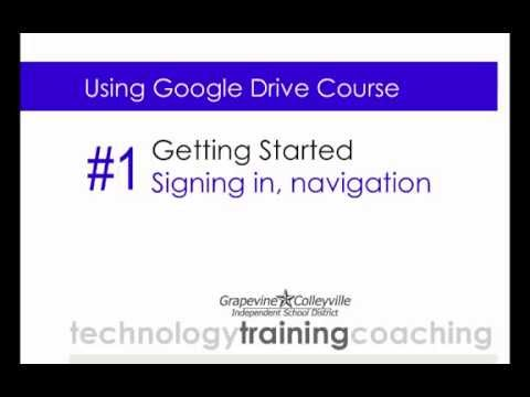 GCISD - Getting Started With Google Drive