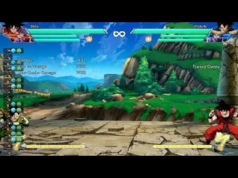 DBFZ - Base Goku 4 Bar Corner Spirit Bomb Level 3 Combo No Assists/Sparking (7600 DMG)