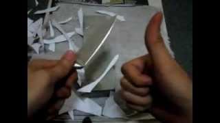 Cara mengasah pisau / parang dan menggunakan leather strop.
