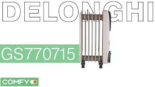 Delonghi GS770715 (WH) - масляный обогреватель на 7 секций - Видеодемонстрация от Comfy(Масляный обогреватель Delonghi GS770715 (WH) с мощностью 1500 Вт. Модель работает в рамках трех режимов.Узнать цену,..., 2014-12-30T11:00:37.000Z)