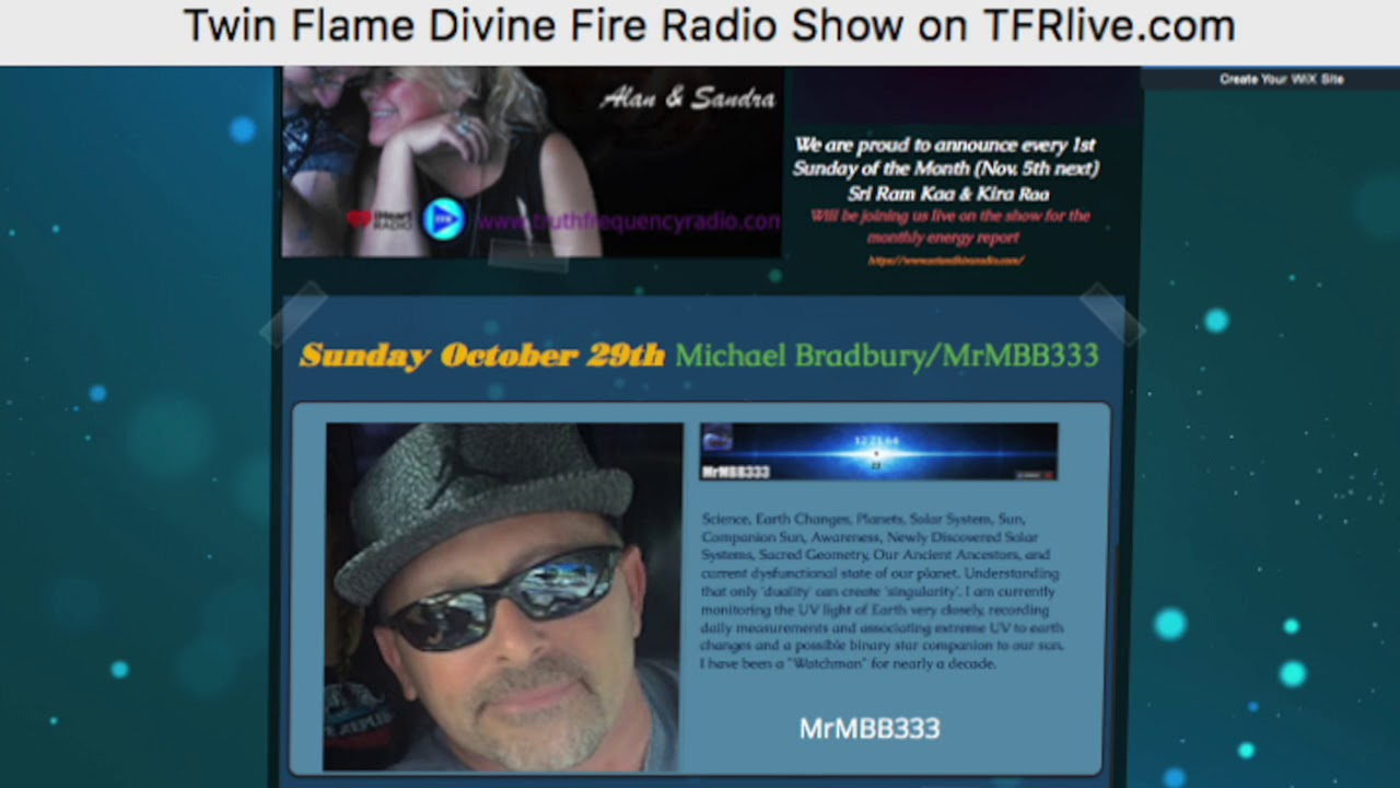 MrMBB333 guest on Twin Flame Devine Fire Sunday Show on TFR