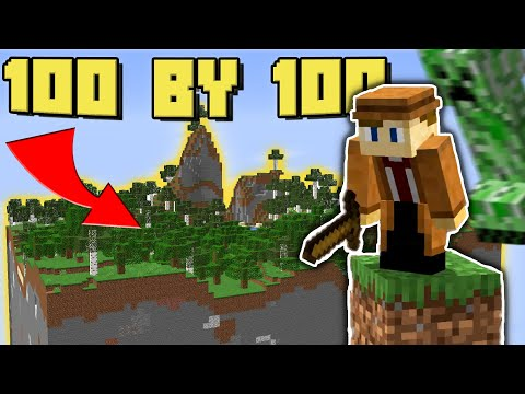 Surviving Minecraft in a 100 by 100 World - Yeah Jaron