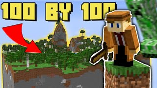 Surviving Minecraft in a 100 by 100 World