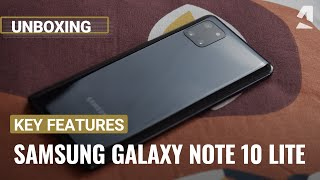 Samsung Galaxy Note 10 Lite unboxing and key features