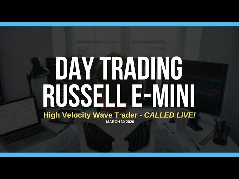 Day Trading the Russell e-Mini:  High Velocity Wave Trader 3/30/20