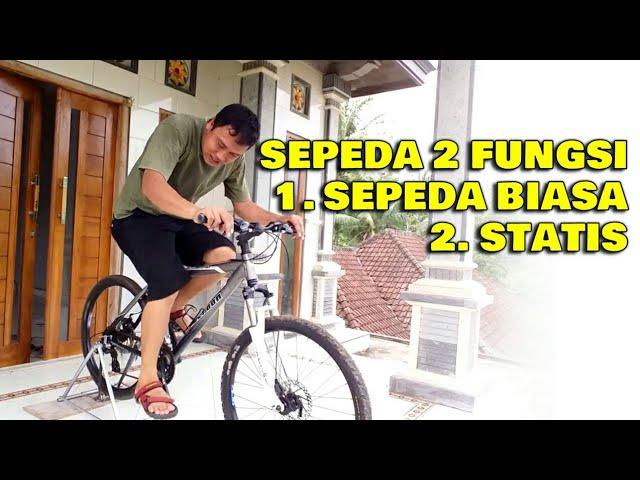 Membuat Sepeda Statis Sendiri Dari Sepeda Biasa Youtube