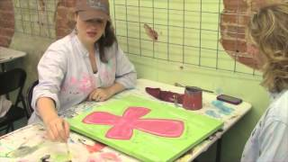 etched crafts and pallet art tutorial