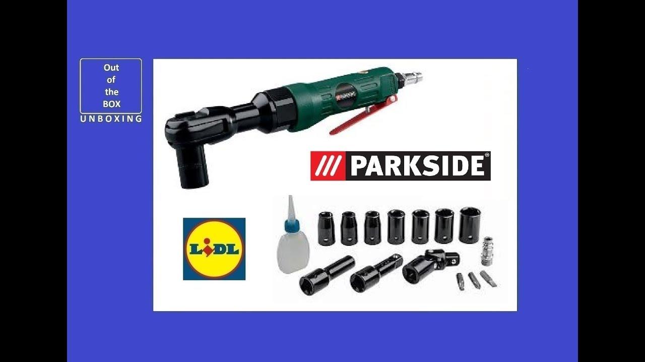 Parkside Pneumatic Ratchet Set Pdrs 63 A1 Unboxing Lidl