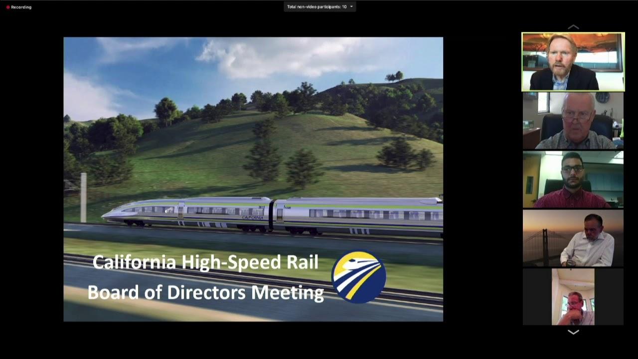 California High-Speed Rail Board of Directors Meeting June 25, 2020