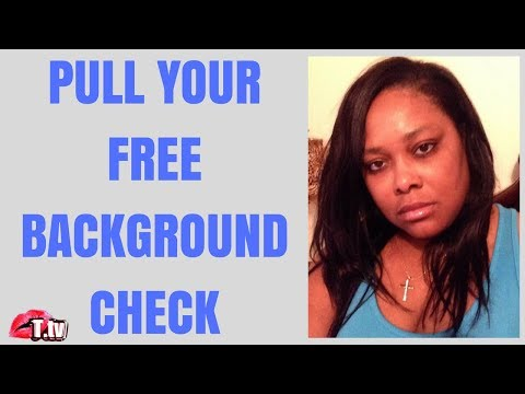 BACKGROUND CHECKS TOTALLY FREE!!  SEE WHAT'S BEING REPORTED TO EMPLOYERS!!!