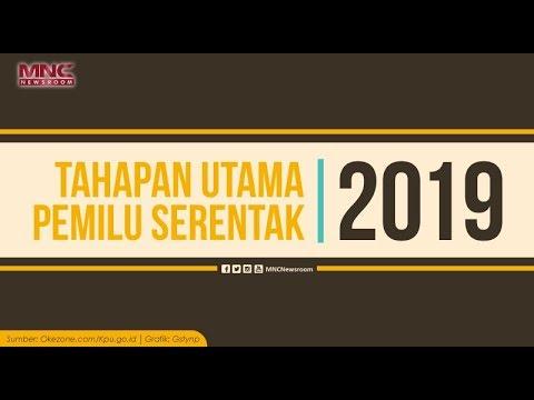 Tahapan Utama Pemilu Serentak 2019