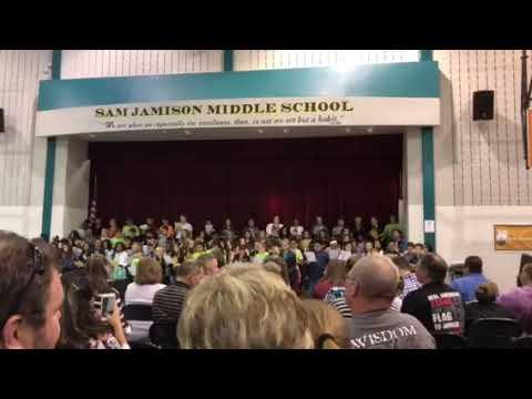 Sam Jamison Middle School Choir Awards Concert Hallelujah