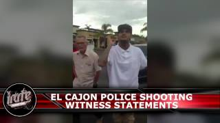 El Cajon Officer Involved Shooting Witness Statements 9/27/16