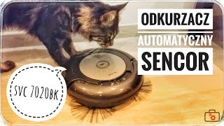 Robot Automatic Vacuum Cleaner    Sencor SVC 7020BK / SVC 7020VT | Unboxing and showing work |