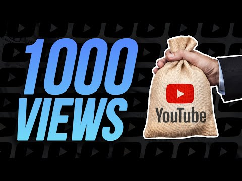 How Much YouTube Pays You For 1,000 Views In 2021