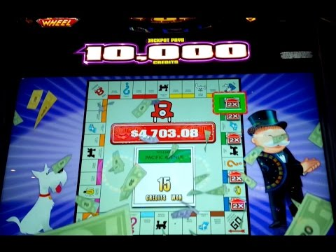 Monopoly Luxury Diamonds Slot Machine - $5 Max Bet BIG WIN Wheel Bonus! - 동영상