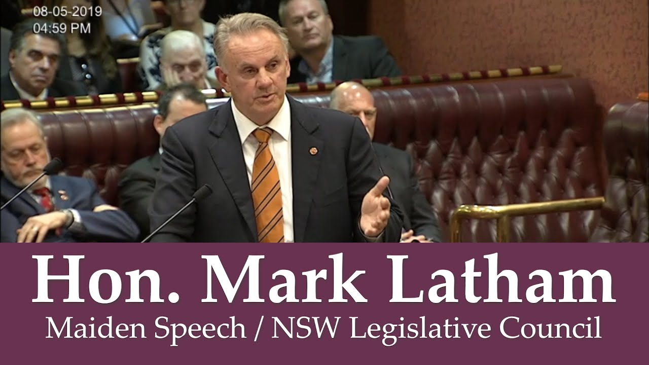 Image result for mark latham maiden speech