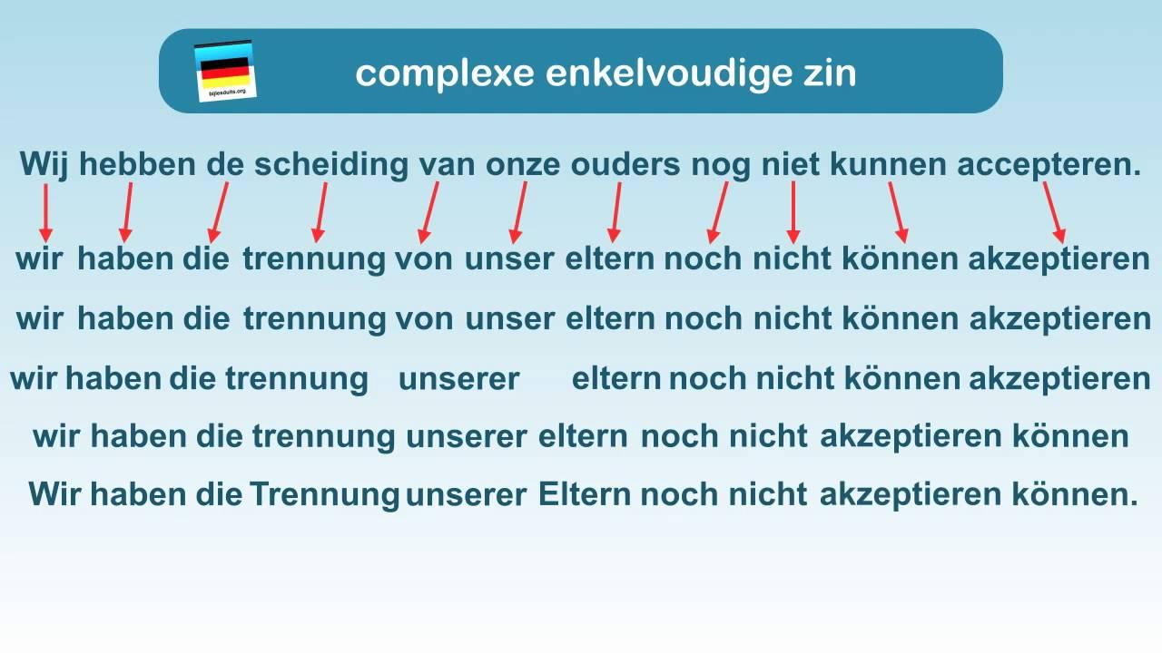 Duits schrijven 2: stap voor stap een zin opbouwen   YouTube