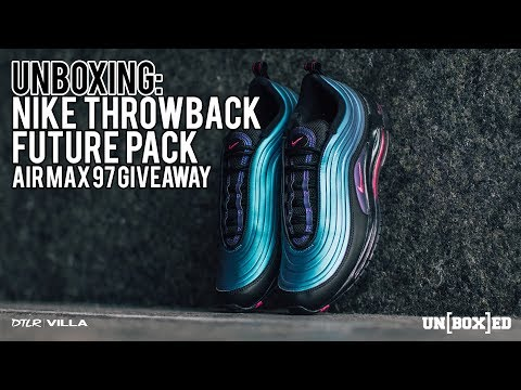 hot sales f2a70 8a5ca UNBOXED: NIKE AIR MAX 97 THROWBACK FUTURE GIVEAWAY! EP. 50