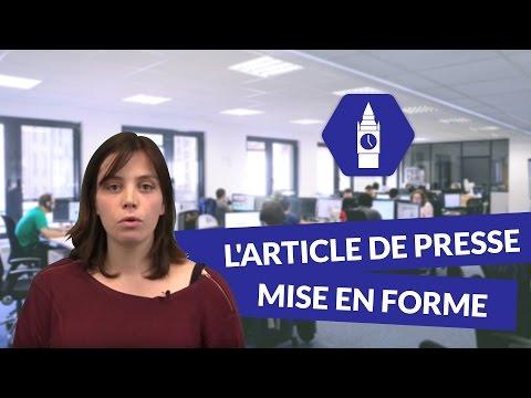 L'article de presse : mise en forme - Anglais Lycée - digiSchool