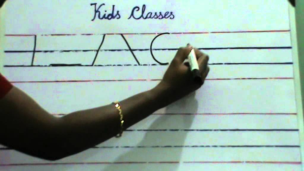 Basic Lines For Alphabets For Preschool Kids. How To Write Letters