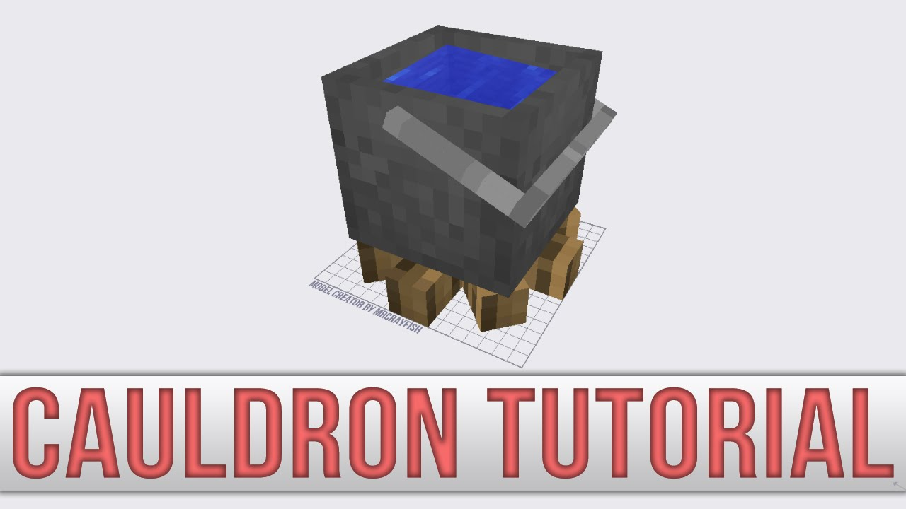 Model creator authentic cauldron tutorial youtube Minecraft 3d model maker
