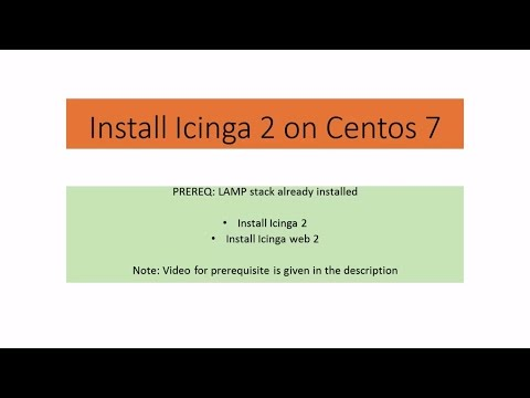 Icinga2 [Part 1] - How to Install icinga 2 and icingaweb 2