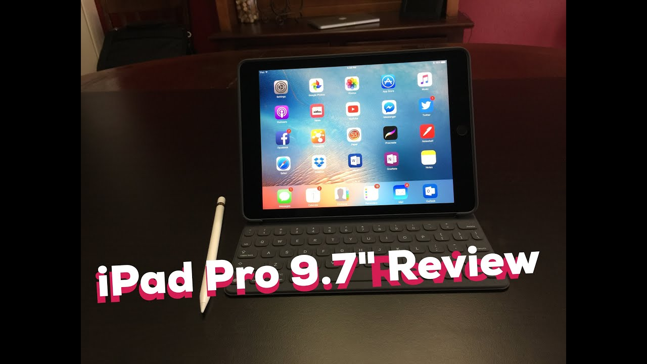 ipad pro 9 7 review including apple smart keyboard and apple pencil youtube. Black Bedroom Furniture Sets. Home Design Ideas