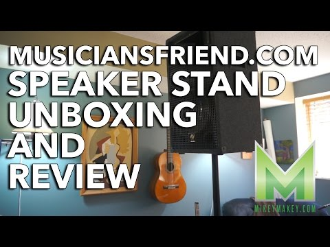 Musiciansfriend.com Speaker Stand Unboxing and Review