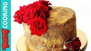 Perfect Chocolate Cake Recipe 🍰 Fresh Roses Cake Decoration 🌹 Tasty Cooking