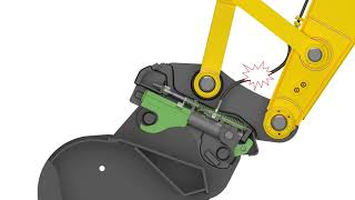 Video still for Quick Coupler with additional safety locks example