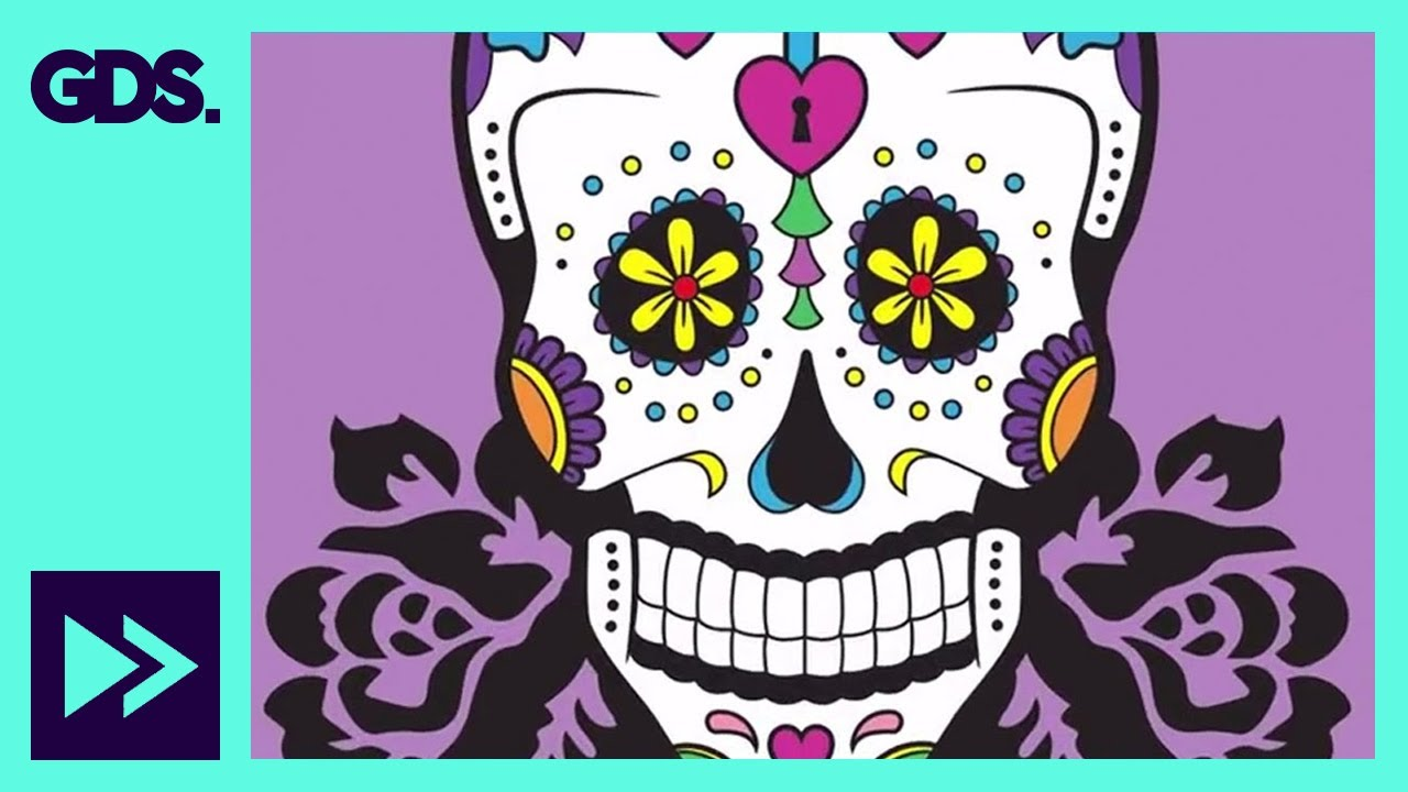 dia de los muertos speed art day of the dead sugar skull