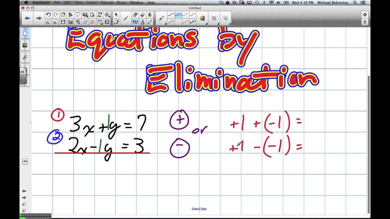 math worksheet : solving linear equations by elimination grade 10 applied lesson 5  : Applied Math Worksheets