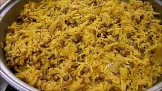 מתכון-אורז מג'דרה עם עדשים, בצל  ותבלינם מהיר קל, פרווה,צמחוני,טבעוני ומשביע