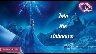 #Frozen 2 #Aurora # Into the unknown Frozen 2 soundtrack lyrics video by Idina Menzel