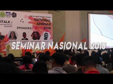 Seminar Nasional 2018 'Digitalk 1st : Creative Economy in Digital Era'